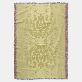 Cobertor Cobertura floral mergulhada elegante do damasco do