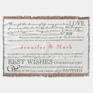 Cobertor Cobertura personalizada dos parabéns