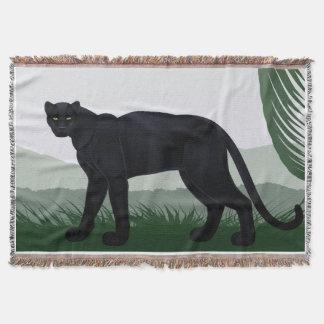 Cobertor Cobertura preta do lance da pantera da selva