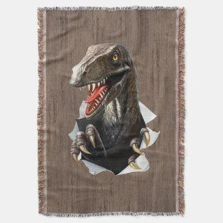 Cobertor Cobertura tecida dinossauro do lance do