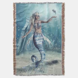 Cobertor Cobertura tecida sereia do lance da fantasia