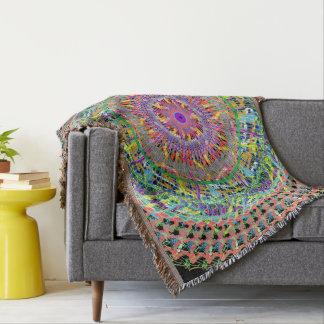 Cobertor Cobrir colorido do lance com o design geométrico