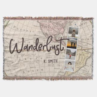 Cobertor Colagem da foto de memórias do viagem. Wanderlust.