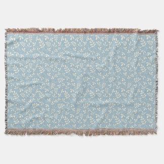 Cobertor Creme Assorted das folhas no teste padrão pequeno