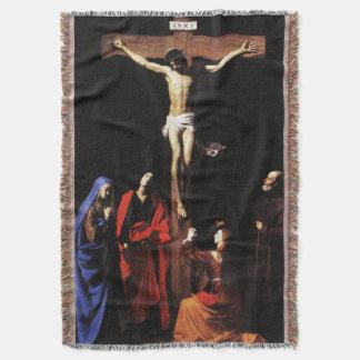 Cobertor Crucificação de Jesus & Virgem Maria & St John
