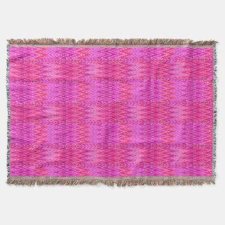 Cobertor Damasco étnico de Chevron, roxo e rosa do fúcsia