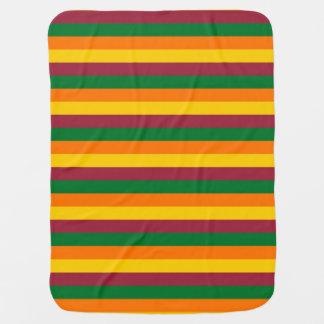 Cobertor De Bebe A bandeira de Sri Lanka listra linhas teste padrão