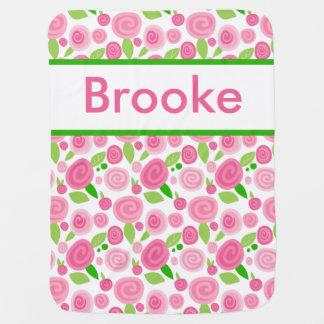 Cobertor De Bebe A cobertura cor-de-rosa personalizada de Brooke