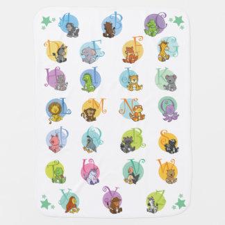 Cobertor De Bebe Alfabeto do animal do bebê do divertimento