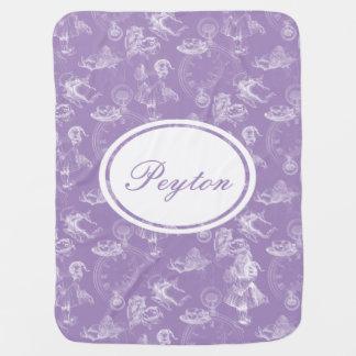 Cobertor De Bebe Alice na cobertura da lavanda do tempo do chá do