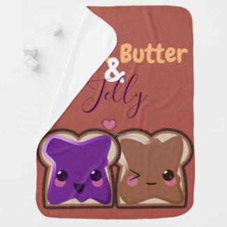 Cobertor De Bebe Amigos da manteiga e da geléia de amendoim de