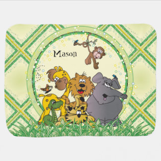 Cobertor De Bebe Animais do bebê da selva do safari