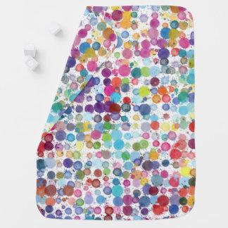Cobertor De Bebe Arco-íris da pintura da arte que recebe a