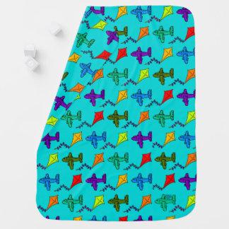 Cobertor De Bebe Aviões & papagaios mim