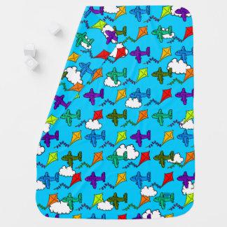 Cobertor De Bebe Aviões & papagaios VI