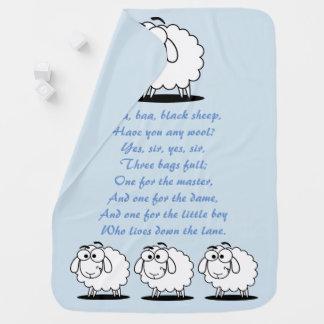 Cobertor De Bebe Azuis bebés da rima de berçário das ovelhas negras