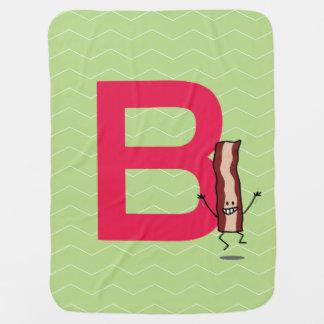 Cobertor De Bebe B é para a letra de salto feliz do ABC da tira do