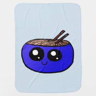 Cobertor De Bebe Bacia de Chibi de cobertura dos macarronetes