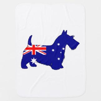 Cobertor De Bebe Bandeira australiana - Scottish Terrier