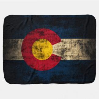 Cobertor De Bebe Bandeira patriótica do Grunge do vintage de