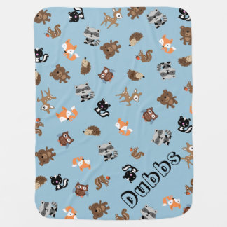 Cobertor De Bebe Bebê customizável Mashup da floresta