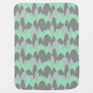 Cobertor De Bebe Bichos nas colinas no verde