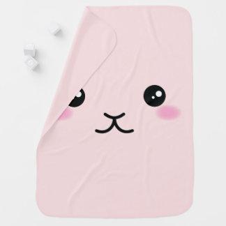 Cobertor De Bebe Bonito, kawaii, design cor-de-rosa do coelho