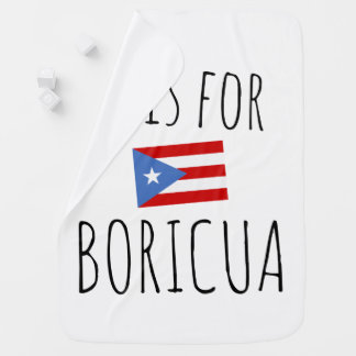 Cobertor De Bebe Boricua: Bandeira de Puerto Rico