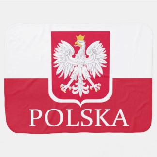 Cobertor De Bebe Brasão da bandeira de Polska do Polônia