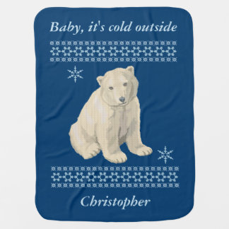 Cobertor De Bebe Camisola feia personalizada do floco de neve do