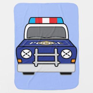 Cobertor De Bebe Carro-patrulha azul corajoso da polícia
