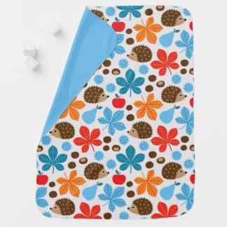Cobertor De Bebe Castanhas & teste padrão sem emenda do ouriço