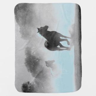 Cobertor De Bebe Cavalos