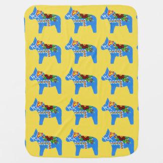Cobertor De Bebe Cavalos azuis de Dala