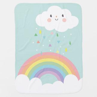 Cobertor De Bebe Céu moderno do Pastel do berçário da nuvem feliz