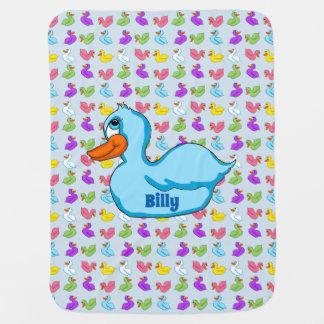 Cobertor De Bebe Cobertura azul do bebê do pato