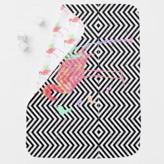 Cobertor De Bebe Cobertura bebé Viga/Flamingos Recortar