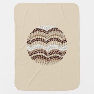 Cobertor De Bebe Cobertura bege redonda do bebê do mosaico