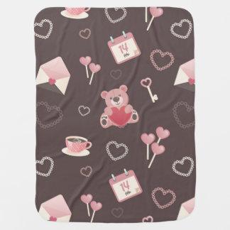 Cobertor De Bebe Cobertura castanho chocolate do bebê do urso de