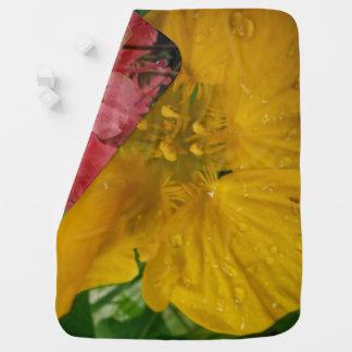 Cobertor De Bebe Cobertura COLORIDA do bebê das FLORES
