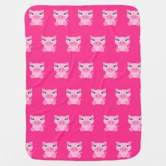 Cobertor De Bebe Cobertura cor-de-rosa bonito do bebê do porco