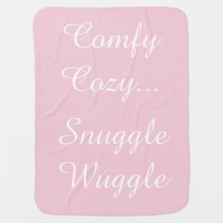 Cobertor De Bebe Cobertura cor-de-rosa de prata do Reversible do