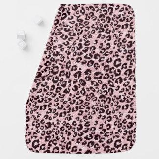 Cobertor De Bebe Cobertura cor-de-rosa do leopardo