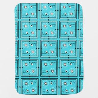 Cobertor De Bebe Cobertura do bebê azul de Paisley com pássaros &
