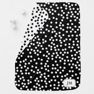 Cobertor De Bebe Cobertura do bebê com carvão vegetal e branco das