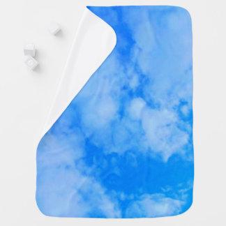 Cobertor De Bebe Cobertura do bebê de azul-céu