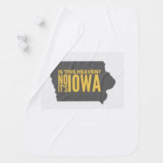 Cobertor De Bebe Cobertura do bebê de Iowa = de céu