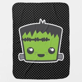 Cobertor De Bebe Cobertura do bebê de Kawaii Frankenstein
