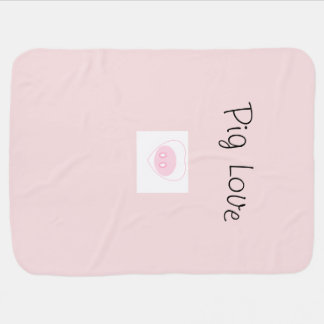Cobertor De Bebe Cobertura do bebê do amor do porco