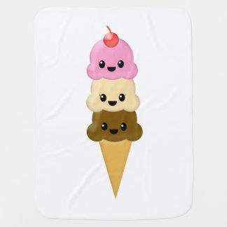 Cobertor De Bebe Cobertura do bebê do cone do sorvete